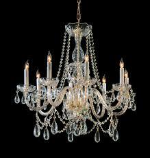 crystorama traditional crystal 8 light swarovski strass crystal brass chandelier ii