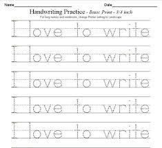 Trace Worksheet Generator Handwriting Worksheet Generator Sentence
