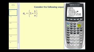 sequences on the ti84 graphing calculator