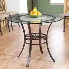 southern enterprises lucianna brown dining table with glass top