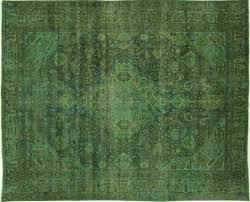 home ideas willpower green overdyed rug area extravagant unique hand knotted blue from green overdyed