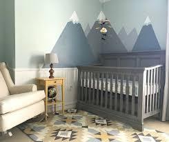 Nursery decor! Modern nursery with mountains and tribal print ...