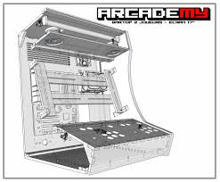 4 Player Arcade Cabinet Kit Project Mame Basic Arcade And Mame Joystick And Push Button