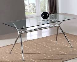 contemporary glass dining table modern rectangular caesar set with 6 seater