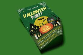 Green Party Flyer Halloween Party Flyer Set 3