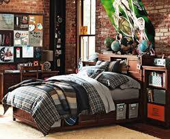 boy furniture bedroom. delighful furniture great teenage boy bedroom with wooden furniture and brick walls