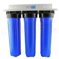 Big Water Filter Systems Whole House 20 X 45 Triple Water Filter System L Free Shipping