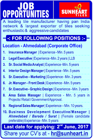 Jobs In Sunheart Tiles Vacancies In Sunheart Tiles Opportunities