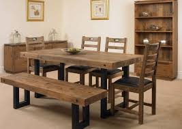 table 4 chairs and bench. mark webster new york dining set - fixed top with 4 chairs and bench table