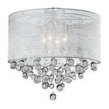 drum light chandelier. Drum Round Shade 4 Lamp Flush Mount Crystal Balls Ceiling Light Chandelier Dia 21\