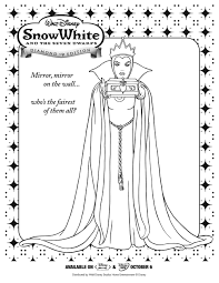 Snow White Queen Coloring Page Printables