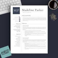 Does Word Have A Resume Template Delectable Professional Resume Template For Word Pages 44 44 And 44 Etsy