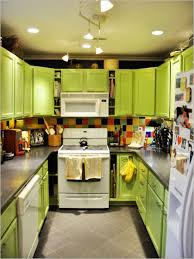 colorful kitchen ideas. Kitchen:Small Colorful Kitchen Ideas With U Shape Lime Green Cabinet And White Modern