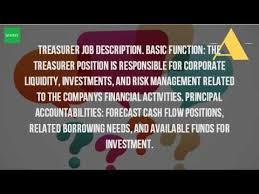 What Is The Role Of A Treasurer? - Youtube