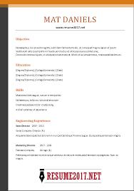 Functional Resume Template 2017 Resume