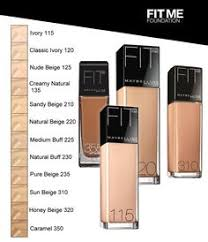 Maybelline Skin Tone Chart Maybelline Fit Me Foundation On Pinterest