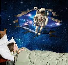 outer space astronauts wallpaper removable wall stickers decals
