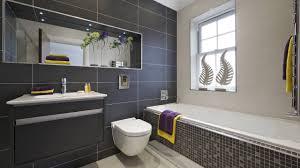 grey bathroom wall and floor tiles ideas