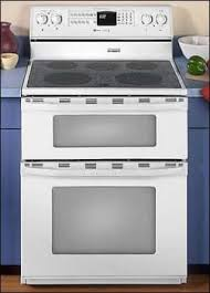 maytag gemini double oven electric.  Maytag Maytag Gemini Series MER6872BAW  Full View Inside Double Oven Electric AJ Madison