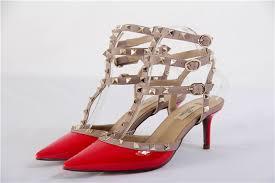 valentino women s red rockstud patent leather kitten heel pumps