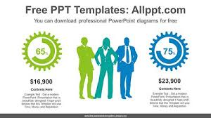 Free People Chart Business People Chart Powerpoint Diagram For Free