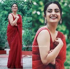 Namitha Pramod looks stunning in Organza sarees – South India Fashion