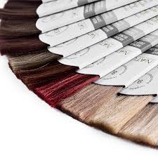 Hot Item Fan Shape Hair Color Swatch Ring Color Chart Display Hair Color