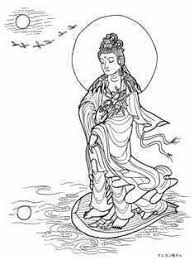 Guanyinmoon Power And Water Power水月観音菩薩 Buddha Coloring Pages