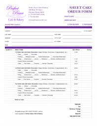 Sample Cake Order Form Template Cake Order Form Template Free Download Google Search Bakery Business 5