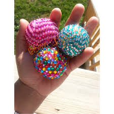 sparkly jewels decorate anything well especially lip balms such as an eos lip balm