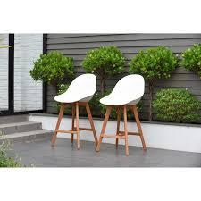 patio bar wood. Hawaii Patio Bar Sidestool (Set Of 2), Dark Eucalyptus Wood - Free Shipping Today Overstock 26519508 T