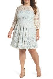 Eliza J Bell Sleeve Fit Flare Dress Plus Size Nordstrom Rack