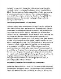 essay on child development co essay on child development