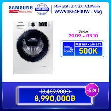 Bán Máy giặt cửa trước Samsung AddWash 9kg - WW90K54E0UW