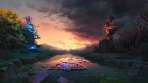 dota 2 the calm before the horn online game wallpaper hd image