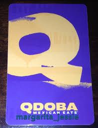 qdoba mexican eats restaurant gift card no value q purple new 2016 ebay