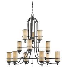 sea gull lighting roslyn 12 light flemish bronze multi tier chandelier