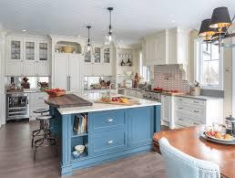 Rustic Blue Kitchen Cabinets Design