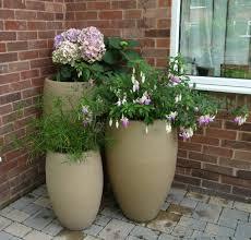 recycled plastic planters modern fibrgelass garden outdoor