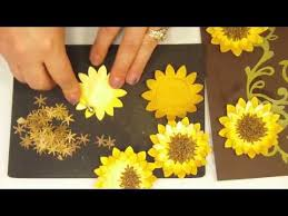 Paper Flower Making Video Craft Making Video How To Make A 3d Paper Sunflower Mp4 Luv The