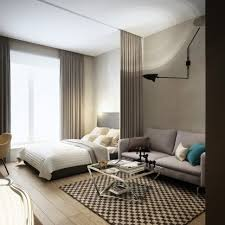 bachelor apartment furniture. Elegant Studio Apartment Decorating Bachelor Apartments Interior Design L Shaped Decoration Room Decor Living Kitchen Bedroom Ideas Very Small Home Furniture A
