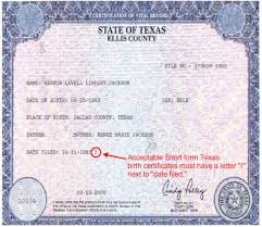 Birth Certificate I 9 Example Port By Port