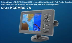 7 Inch Marine Chart Plotter Fishfinder With Internal Gps Antenna With Plastic Transducer Kcombo 7a Gps Ais Fish Finder