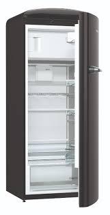 Gorenje Retro ORB153BK Refrigerator - Black - cut out open door