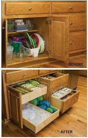pull out storage bins.  Pull 10 Kitchen Cabinet U0026amp Drawer Organizers You Can Build Yourself Pull Out  Storage Bins Throughout E