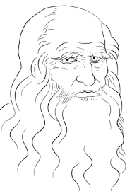Leonardo Da Vinci Self Portrait Coloring Page Free Printable