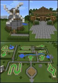 Minecraft Water Fountain Designs Minecraft Windmill Mini Golf Course Water Fountain Landscape