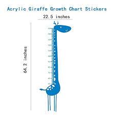 Hiltow Acrylic Giraffe Growth Chart Stickers Measure Height