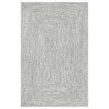 salt and pepper braided lefebvre area rug
