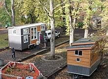 tiny house movement. tiny houses on display in portland, oregon house movement t